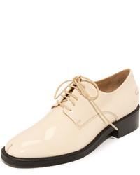 Beige Leder Oxford Schuhe von Rachel Comey