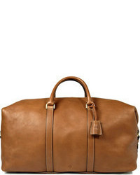 Beige Leder Reisetasche