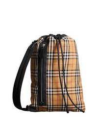 beige Leder Reisetasche von Burberry