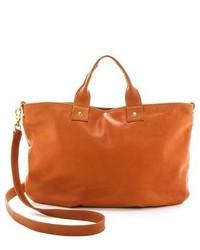 beige Leder Reisetasche von Clare Vivier