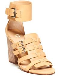 beige Leder Sandaletten