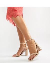 beige Leder Sandaletten von ASOS DESIGN