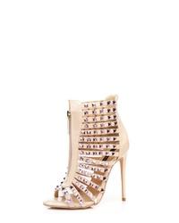 beige Leder Sandaletten von Giaro
