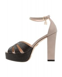 Beige Leder Sandaletten von Laura Biagiotti