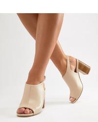 beige Leder Sandaletten von Park Lane