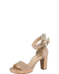 beige Leder Sandaletten von Paul Green
