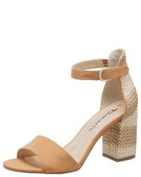 beige Leder Sandaletten von Tamaris