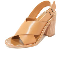 Beige Leder Sandaletten von Zimmermann