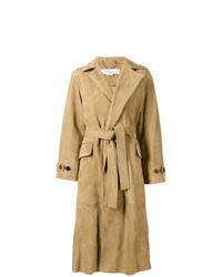 beige Leder Trenchcoat von Golden Goose Deluxe Brand