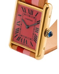 beige Leder Uhr von La Californienne
