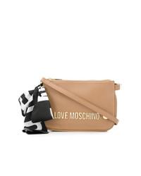 beige Leder Umhängetasche von Love Moschino