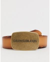 beige Ledergürtel von Calvin Klein Jeans
