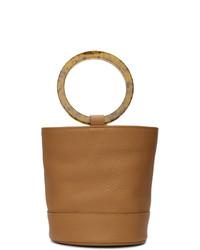 beige Lederhandtasche von Simon Miller