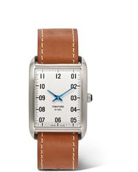 beige Lederuhr von Tom Ford Timepieces