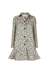 beige Mantel mit Leopardenmuster von Valentino