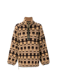 beige Oversize Pullover mit Karomuster von Marc Jacobs
