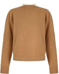 beige Oversize Pullover