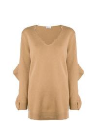 beige Oversize Pullover von RED Valentino