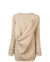 beige Oversize Pullover von Rick Owens