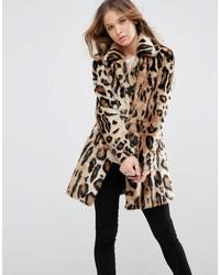 beige Pelz mit Leopardenmuster von Glamorous