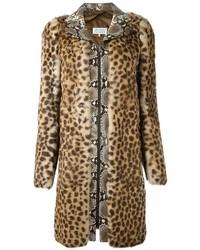 beige Pelz mit Leopardenmuster von Maison Margiela