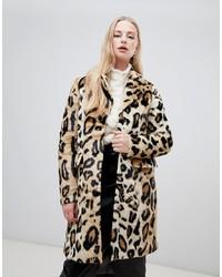 beige Pelz mit Leopardenmuster von Vero Moda