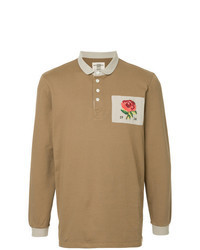 beige Polo Pullover