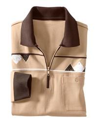 beige Polo Pullover von CLASSIC BASICS