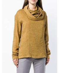 beige Pullover mit einer weiten Rollkragen von Nehera
