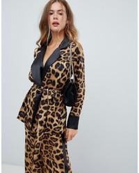 beige Sakko mit Leopardenmuster von Missguided