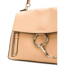 beige Satchel-Tasche aus Leder von Chloé