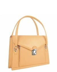 Beige Satchel-Tasche aus Leder von L.a.p.a.