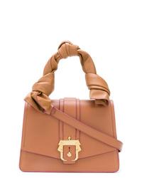 beige Satchel-Tasche aus Leder von Paula Cademartori