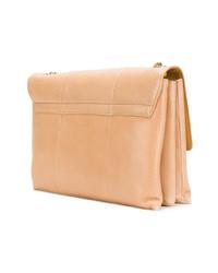 beige Satchel-Tasche aus Leder von Lanvin