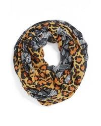 beige Schal mit Leopardenmuster