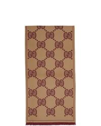 beige Schal von Gucci