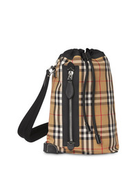 beige Segeltuch Reisetasche von Burberry