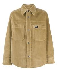 beige Shirtjacke aus Cord von Ami Paris