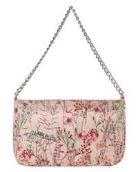 beige Shopper Tasche aus Leder mit Blumenmuster von Esprit