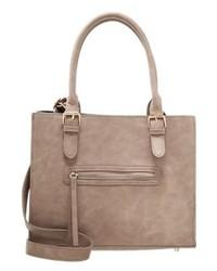 beige Shopper Tasche aus Leder von Anna Field