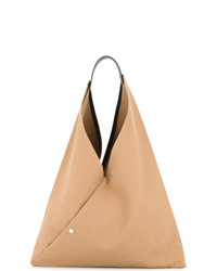 beige Shopper Tasche aus Leder von Cabas