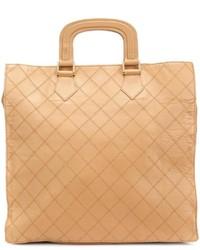 Beige Shopper Tasche aus Leder von Chanel