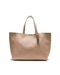 beige Shopper Tasche aus Leder von Desigual