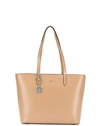 beige Shopper Tasche aus Leder von DKNY