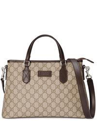 beige Shopper Tasche aus Leder von Gucci