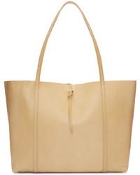 Beige Shopper Tasche aus Leder von Kara