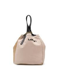 beige Shopper Tasche aus Leder von Lanvin
