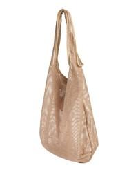 beige Shopper Tasche aus Leder von Mae & Ivy