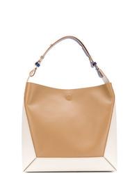 beige Shopper Tasche aus Leder von Marni
