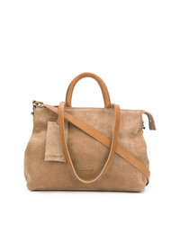 beige Shopper Tasche aus Leder von Marsèll